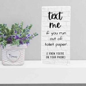 Cornerstone/Bathroom Series--Text Me